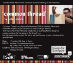 Invitation for 'Common Thread' Tsar Carpets St. Kilda 2009 by Peter Atkins