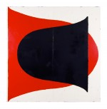 Glass - Red on Black (Russell Wright Form) 1999 by Peter Atkins