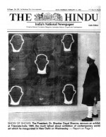 Front Page - The Hindu - India 1994 by Peter Atkins