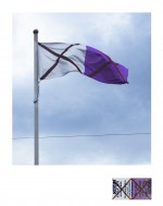 'Warrn'mbool' Flag Flying at Federation Square 2013 by Peter Atkins